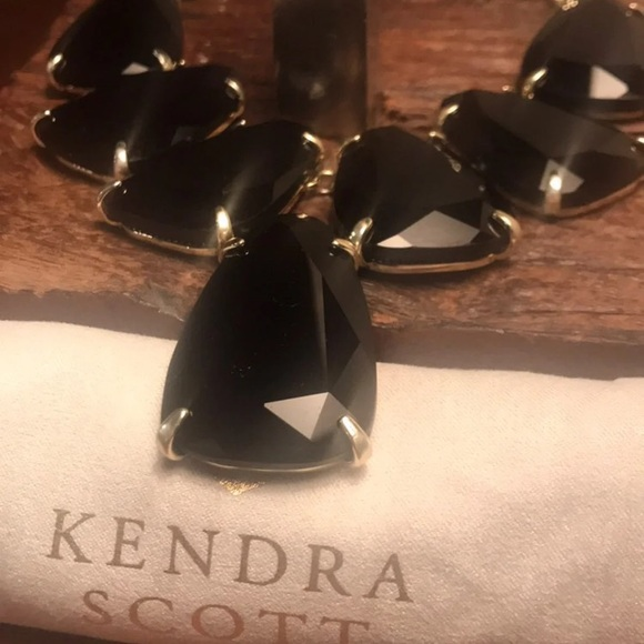 Kendra Scott Jewelry - Retired Kendra Scott Harlow in Black Opaque Glass!